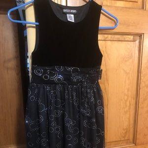 Girls black fancy dress Size 14